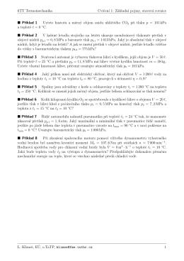 6TT Termomechanika Cvicenı 1: Základnı pojmy, stavová rovnice Pr