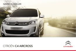 Návod k obsluze Citroën C4 Aircross