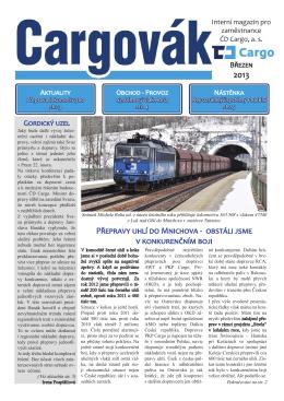 Cargovák 3/2013 - Federace strojvůdců Most