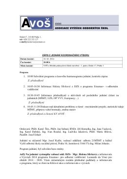 Zápis z jednání koordinačního výboru 18. 2. 2014 (pdf)