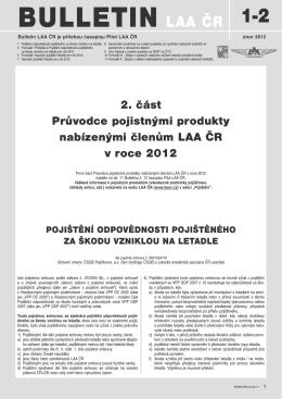 leden-únor 2012 - letecká amatérská asociace ČR