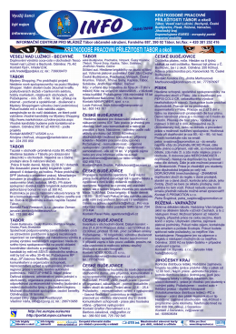 letak brigady tabor.pdf - Národní informační centrum pro mládež