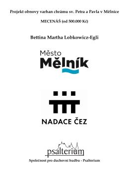 Bettina Martha Lobkowicz-Egli - Mělnický osvětový a okrašlovací