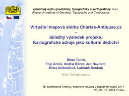 Virtuální mapová sbírka Chartae