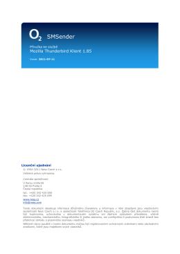 Příručka k Mozilla Thunderbird - SMSender