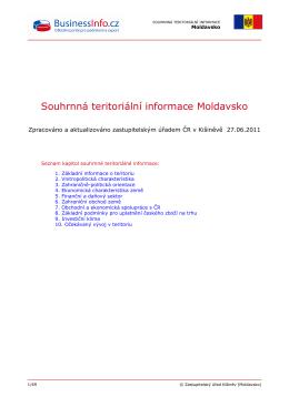 Souhrnná teritoriální informace Moldavsko
