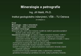 Mineralogie a petrografie - Institut geologického inženýrství, VŠB