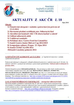 Aktuality z AKC ČR č. 10