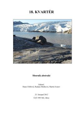 18. KVARTÉR - Ústav geologických věd
