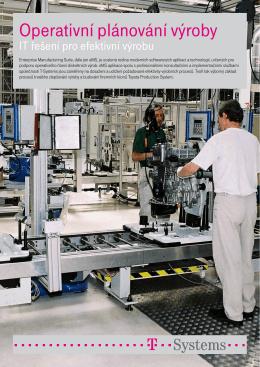Operativní plánování výroby - produktový leták - T