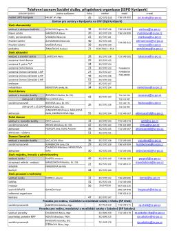 Telefonní seznam - 1.12.2014 - Sociální služby,p.o. Kynšperk nad Ohří