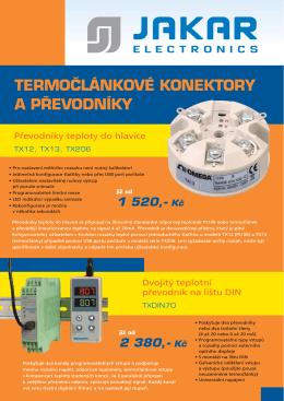 termočlánkové konektory a převodníky