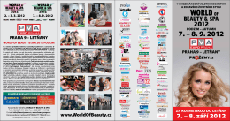 Leták s programem World of Beauty & Spa