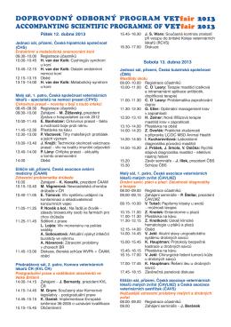 Vetfair 2013 Program+seznamy+plánek