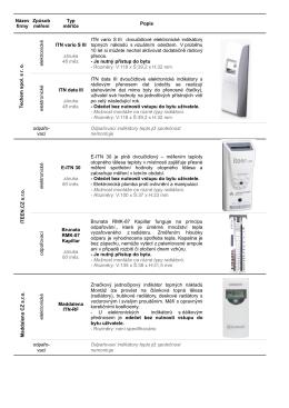Srovnání poměrových měřičů tepla - meridla (pdf