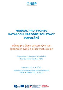manuál pro tvorbu katalogu národní soustavy povolání