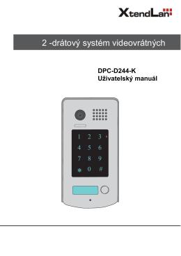 XtendLan | Videotablo DPC-D244 - Elektroinstalace Revize Praha