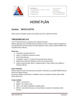Herní plán Multilotto II