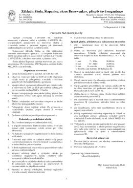 Provozní řád - ZŠ Šlapanice