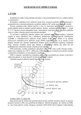 Souřadnicové měřící stroje - Katedra výrobních systémů