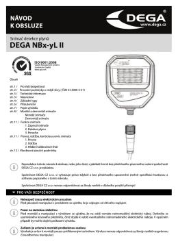 Návod k použití DEGA NBx-yL II