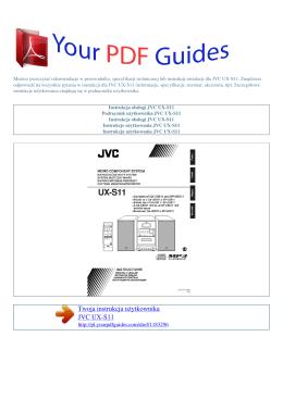 Instrukcje obsługi JVC UX-S11