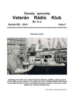 3/2014 - Veterán Radio Klub