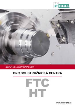 CNC soustružnická centra FEELER řady FTC a HT