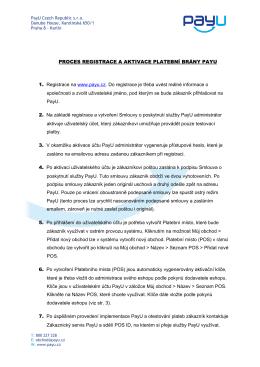 Propojení e-shopu s platební bránou PayU