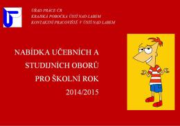 Nabídka učeních a studijních oborů pro školní rok 2014/2015