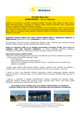 TIP PRO ROK 2012 CHORVATSKO