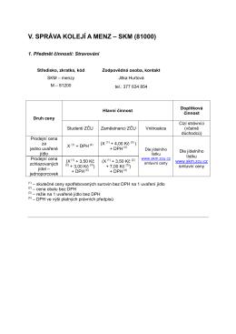 skm (81000) - Správa kolejí a menz ZČU