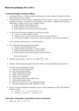 Přípravné maturitní příklady 4