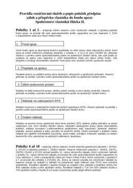 Pravidla rozúčtování - PDF - Společenství vlastníků Hůrka II.