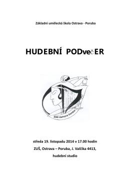 Hudební podvečer - ZUŠ Ostrava