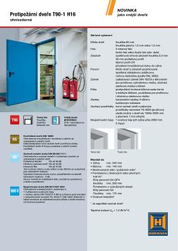 Protipožární dveře T90