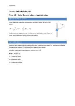 Předmět: Elektrotechnika (Ele) Téma: 6.3 – Biotův