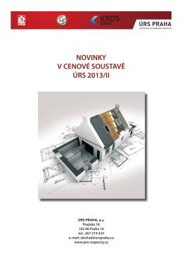 NOVINKY V CENOVÉ SOUSTAVĚ ÚRS 2013/II