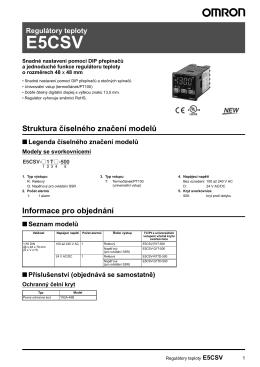 Regulátory teploty E5CSV