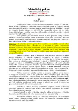 Vyhláška MMR 372/2001 – metodický pokyn