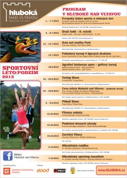 Sportovní akce léto - podzim 2013
