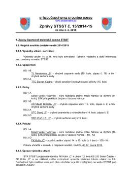 Zprávy STSST č. 15/2014-15 - Středočeský svaz stolního tenisu