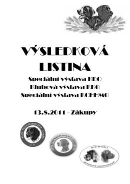 KOMPLETNÍ VÝSLEDKOVÁ LISTINA r.2011