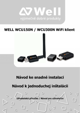 WELL WCU150N / WCU300N WiFi klient