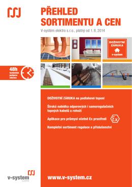 Kompletní ceník V-systém elektro 2015