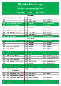 program od 21.ledna 2015 ke stažení zde