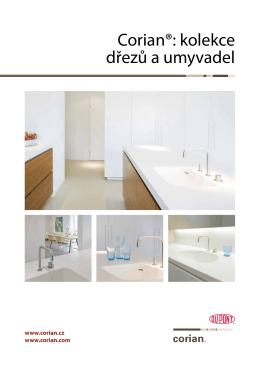 CORIAN® - kolekce dřezů a umyvadel - PDF