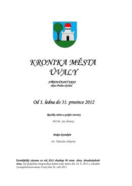 rok 2012 - Město Úvaly