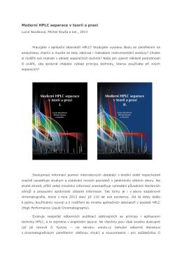 Moderní HPLC separace v teorii a praxi I.aII.díl, autoři Lucie