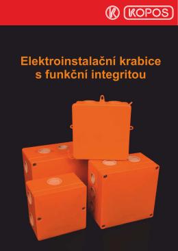 Elektroinstalační krabice s funkční integritou